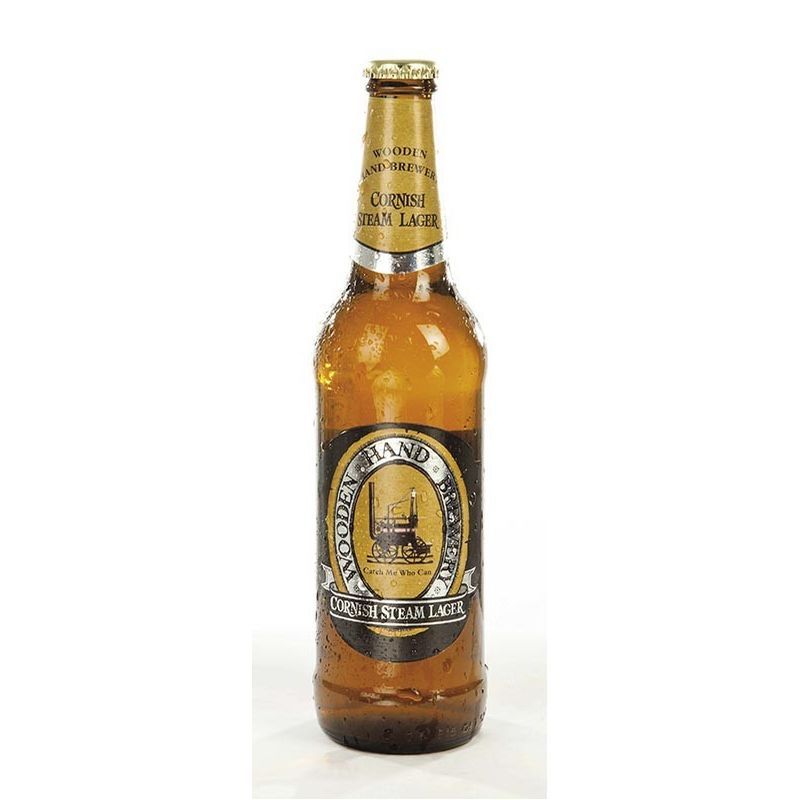 Cornish Steam Lager - wooden hand - Žatec 0.5L